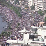 Marine Drive and Chowpatty Beach will have large crowds on New Year Eve 2012.