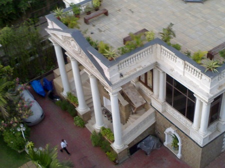 Top view of Shah Rukh Khan's home, Mannat.