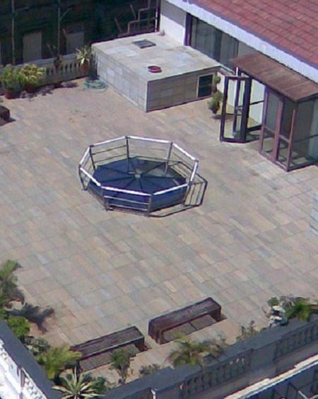 View of Shah Rukh Khan's terrace at Mannat