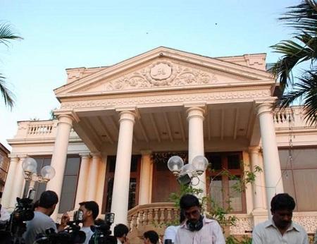 Shahrukh Khan's bungalow Munnat with its majestic columns