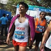 Milind Soman ran the full 2012 Mumbai Marathon