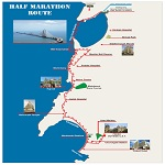 2012 Mumbai Half Marathon Route Map