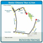 The 2012 Mumbai Marathon Wheelchair and Senior Citizen Run category route