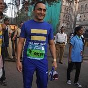 Actor Rahul Bose at the Mumbai Marathon 2012