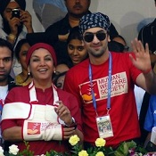 Ranbir Kapoor, Shabana Azmi at the 2012 Mumbai Marathon