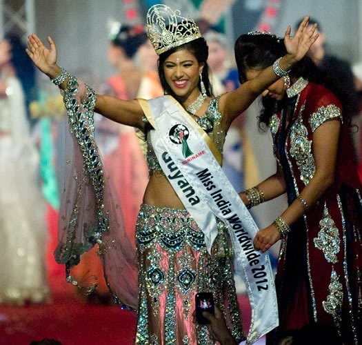 Alana Seebarran Winner Miss India Worldwide 2012