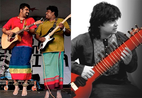 Nilandari Kumar & Raghu Dixit Project at the Music concert at 2012 Kala Ghoda Sat 11