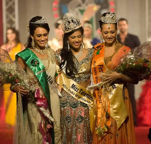 Winners of the Miss India Worldwide 2012