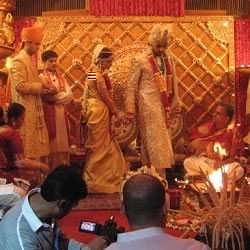 Picture of Aishwarya Rai, Abhishek Bachchan wedding ceremony at Prateeksha