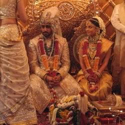 Picture of Abhishek and Aishwarya Bachchan Marriage at Prateeksha