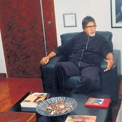 Amitabh Bachchan's sitting in his Janak Office