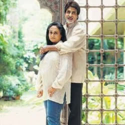 Photo of Amitabh and Jaya Bachchan at their home Prateeksha