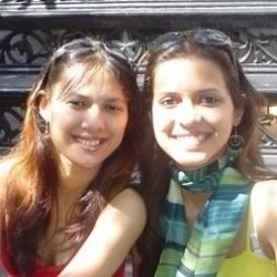 Sisters Rochelle Rao and Paloma Rao.