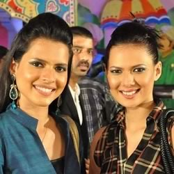 Miss India Rochelle Maria Rao and her sister Paloma Rao