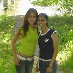 Picture of a young Miss India Rochelle Rao and sister Paloma Rao