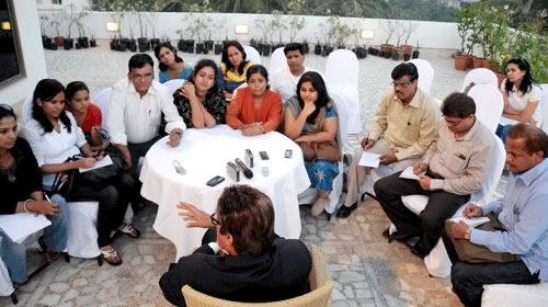 Amitabh Bachchan on the terrace of Prateeksha