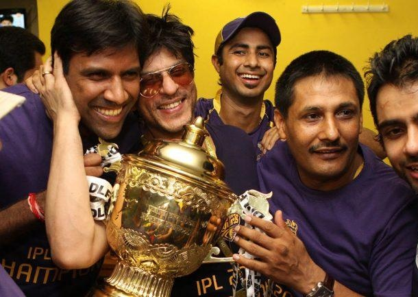 Shahrukh Khan is full of happiness after KKR won the 2012 IPL final against CSK