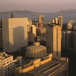 Arial view of Nariman Point, Vidhan Bhavan, which is Bombay's business district and tourism spot