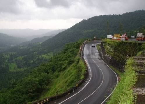 Mumbai to Mahabaleshwar and Panchgani via road Mumbai Goa Highway, NH 17. Turn East from Poladpur.