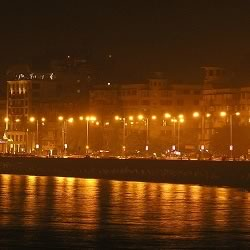 Bombay's Marine Drive looks stunning at night. Must visit sight for tourist.