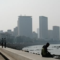 Marine Drive art deco buildings, footpath and Nariman Point are main tourist destinations in Bombay.