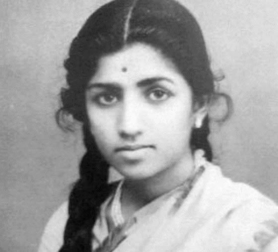 "Young Lata Mangeshkar's first Hindi song ""Mata Ek Sapoot Ki Duniya Badal De Tu"" in 1943"