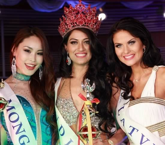 India's Himangini Singh Yadu won the 2012 title of Miss Asia Pacific World