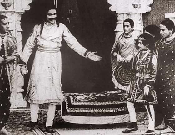 Dadasaheb Phalke's Raja Harishchandra is the first full Hindi feature film in India, shown in 1913