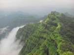 Pic of the green hills of Mahabaleshwar in the rainy season