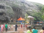 The ancient Buddhist Karla Caves at Lonavala - Khandala near Mumbai are major tourist attractions
