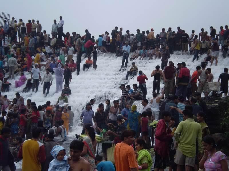 Bhushi Dam at Lonavala - Khandala Hillstations is a major tourist attraction during the rains.