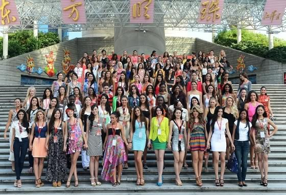 Group Picture of All Miss World 2012 Contestants in China