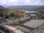 Photo of beautiful buildings, lake in Lavasa Hill Station Near Mumbai and Pune.