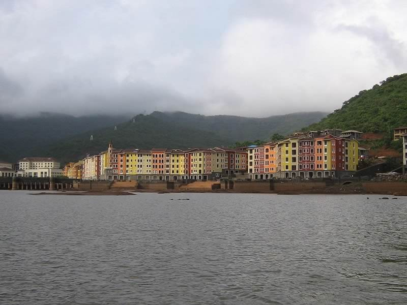 Picture of Lavasa Hill Station in the rainy monsoon season