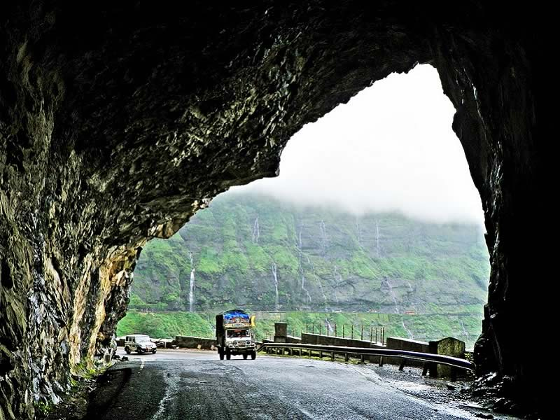 Picture of tunnel at Malshej Ghat near Mumbai