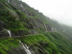 Picture of waterfalls at Malshej Ghat during the rain. Excellent place to visit in the rainy season.
