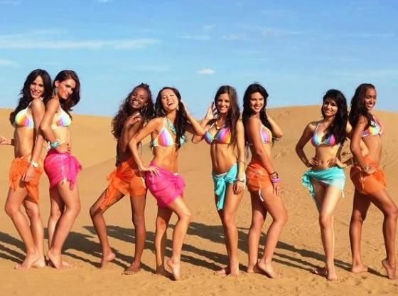 Miss World 2012 Contestants in Swim wear and Beachwear for the Beach Beauty Event
