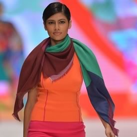 Vanya Mishra, Miss India, walking the Ramp at 2012 Miss World