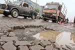 Potholes in the road are a major problem during Mumbai's Rains