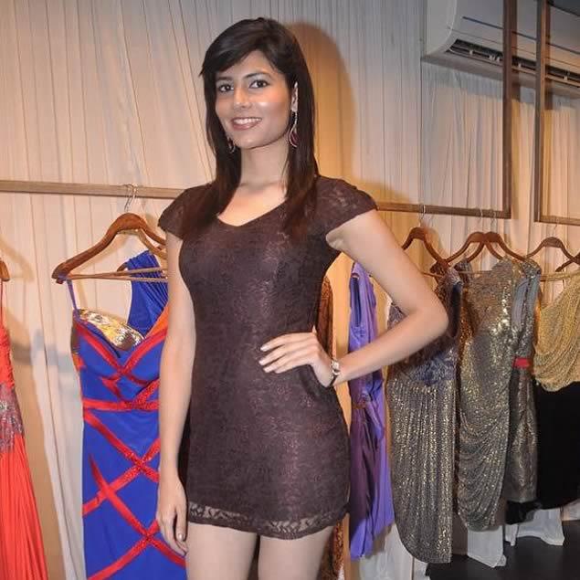 Vanya Misra, 2012 Femina Miss India World at the launch of Shantanu and Nikhil's new design store