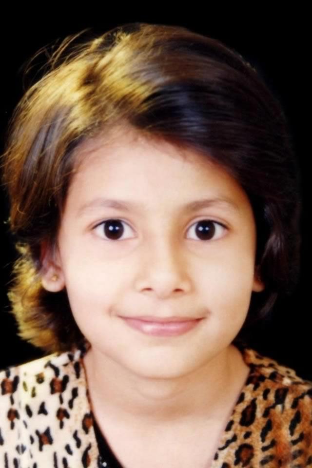 Childhood photo of 2012 Femina Miss India World Vanya Mishra as a child.