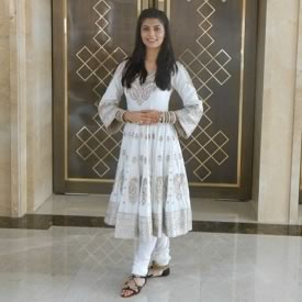 Vanya Mishra in a traditional Indian Anarkali Dress for the Talent Event at Miss World 2012
