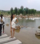 Miss India, Vanya Misra, seeing the attractions in Ordos during Miss World 2012