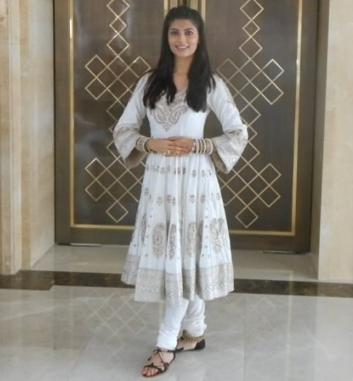 Miss India, Vanya Mishra participating in the talent event at 2012 Miss World