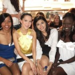 Vanya Mishra with friends and contestants at 2012 Miss World in Inner Mongolia, China