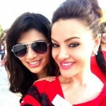 Miss India, Vanya Mishra, with Miss Nepal, Shristi Shrestha at Miss World 2012