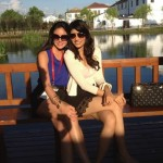 Vanya, Miss India, with her Miss World 2012 friend and room mate, Miss Colombia
