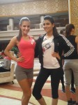 Vanya all dressed up for the Sport and Fitness Fast Track Challenge Event at Miss World