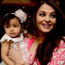 Aishwarya Rai with daughter Aaradhya Bachchan receiving France's second highest civilian award on her birthday.