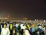 Large crowds at Mumbai's Chowpatty beach for Ganesh Visarjan in 2012
